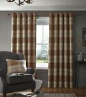 Catherine Lansfield Brushed Heritage Winter Check Fully Lined Eyelet Curtains