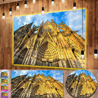 Designart 'Dom Church in City Cologne Lit By Sun' Large Cityscape Art Metal Wall