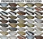 DAMASK WIPE CLEAN PVC TABLECLOTH VINYL OILCLOTH  DINING KITCHEN TABLE COVER