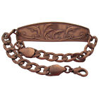 Solid Copper Bracelet Dolphin Handmade Jewelry Chain Link Arthritis Pain Relief