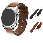 Replacement Leather Watch Band For Samsung Gear S3 Frontier/Classic Bangle Black