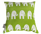 ELEPHANT GREEN WHITE KIDS CUSHION COVER BABY NURSERY DECORATIVE THROW PILLOW 14""