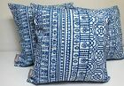 OUTDOOR INDOOR CUSHION COVER COBALT BLUE THROW PILLOW CHAIR DECK 3 SET 45cm SALE