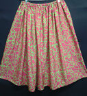 LADIES PLUS SIZE SKIRT PINK AND GREEN HANDMADE IN UK size 30 32 34 36 38 40