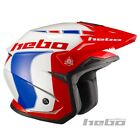 Hebo Zone 5 Offroad Motorcycle Motorbike Trials Helmet Inc Sun Visor red-blue