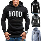 Fashion Mens Letters Print Hooded Sweatshirt Pullover Hoodie Coat Jacket Sweater