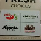 $30 Gift Card Chilis, Macaroni Grill, On The Border, Maggiano's - only pay $22!
