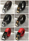 Fashion Genuine Leather Mens Metal Alloy Automatic letter Buckle Belts NEW!