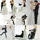 Romantic Love Wedding Bride / Groom Couple Figurine Resin Cake Topper Decor UI
