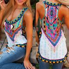Fashion Women Clothing Printing Vest  Linen Sleeveless Bottoming T-Shirt Blouse