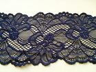 "NEW~ Beautiful NAVY BLUE Stretch Scalloped Lace 3.5""/9 cm Lingerie/Trim"