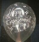 """Qualatex Clear Engagement Sparkles 11"""" Helium Quality Party Balloons"""
