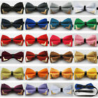 Coachella Ties Solid Color Butterfly Brass Corners Bow Tie Microfiber Bowtie