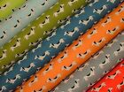 """HOT DOG DACHSHUND"" Fabric - Multi Use Curtain Blinds Quilting Craft Patchwork"