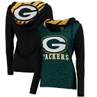 Green Bay Packeres Ladies Dynamic Knit hooded long sleeve shirt -Green