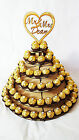 6 Tier Personalised Mr & Mrs Ferrero Rocher Pyramid, MDF Wedding Display Stand