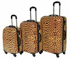 Hard Shell Suitcase Travel Trolley Lightweight 4 Wheel Spinner Luggage Leopard