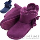 Ladies / Womens Ankle Style Slipper Boot / Booties with Faux Fur Inner