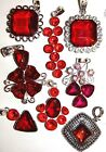 RED GARNET & SILVER SELECTION CHOICE NECKLACES LADIES GIFT IDEA BUY 2 GET 1 FREE