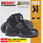 Mongrel 461020 Work Boots. Steel Toe Safety. Black, Zip-Sider, Scuff Cap,  NEW!