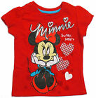 Disney Minnie Mouse Girls Red T-Shirt Short Sleeve Toddler Size 2T 3T 4T New Tag