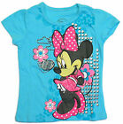 Disney Minnie Mouse Girls Blue T-Shirt Short Sleeve Toddler Size 2T 3T 4T New