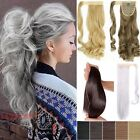 UK New Long Various Colors Ponytail Clip in Hair Extensions Long Pony Tail NH