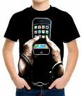 Handcuffed To An Iphone Boys Kid Youth T-Shirts Tee Age 3-13 ael43580