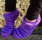 FAIR TRADE NEPAL WINTER WOOL FLEECE LINED COSY TOES SLIPPER BED SOCKS SIZE 4 - 7