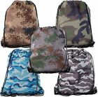 Camo Drawstring Tote Backpack | Wholesale Cinch Bags for Hunting,Hiking,Parties