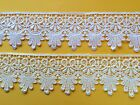 "Laces Galore ~Beautiful WHITE or IVORY Satin Guipure Venise Lace 2.25""/58 mm"