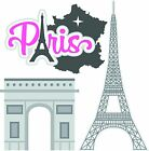 Paris die cuts Vacation Title Die cut Scrapbook Scrapbooking Embellishment 3D