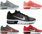 GIRLS BOYS NIKE AIR MAX SEQUENT 2 GS BLACK RED PINK LADIES TRAINERS UK 3 - 6