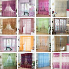 Hot Floral Tulle Voile Door Window Curtains Drape Sheer Panel Valances Divider