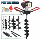 """One man 52cc 2.3HP Gas Post Planting Soil Hole Digger 4"""" 6"""" 8"""" 10""""12"""" Auger Bits"""