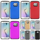 SLIM HYBRID Dual Layer UV Coating Skin Case Cover For Samsung Galaxy S6 Edge