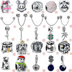 100% Sterling Silver European Charm Bead Fit Bracelet Bangle Necklace Chain Ring