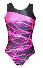 *Lightning* Girls Gymnastics leotard - Mystique/Hot-Pink -26,34,36