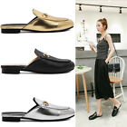 New Fashion Metal Spring Slide Horsebit Loafer Slipper Mule Solid Princetown K