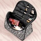 Lady Black Zebra Cosmetic Bag Makeup Organizer Case Travel Toiletry Bag Handbag