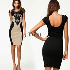 NEW Women Stretch Lace Slim Bodycon Party Cocktail Evening Clubwear Pencil Dress