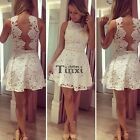Fashion Womens Stylish Lace Sleeveless Backless Party Casual Bodycon Dress TXCL