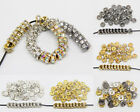 Fashion Czech Crystal Rhinestone Silver Rondelle Spacer Beads  5mm 6mm 7mm 8mm