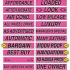 15 Inch Hot Pink Sign Stickers (multiple item shipping discount)
