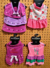 PUPPY THREADS Pet Dog Dress  Miss Princess / Love / Flowers / Tiered Paw Prints