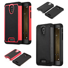 For Alcatel Fierce 4 Rubber IMPACT TRI HYBRID Case Skin Phone Cover Accessory