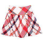 NeedyBee Suede Checkered Printed Cotrise Skirt With Zipper Closure For Girls