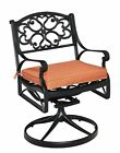 Home Styles Biscayne Swivel Patio Dining Chair with Cushion