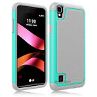 For LG X Style/Tribute HD Phone Case Shockproof Hybrid Soccer Skin Hard Cover