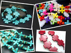 "15mm, 20MM Beautiful Howlite Turquoise Cross Loose Beads 16"" T001"